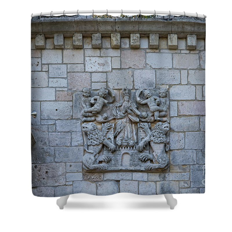 Ancient Spanish Monastery Shower Curtain featuring the digital art Ancient Spanish Monastery by Carol Ailles