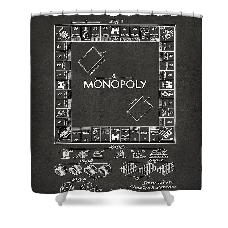 Monopoly Board Game Shower Curtains