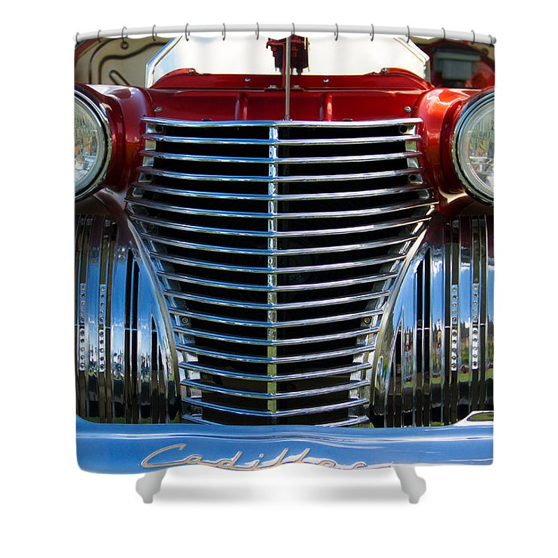 Coupe Shower Curtain featuring the photograph 1940 Cadillac Coupe Front View by Eti Reid