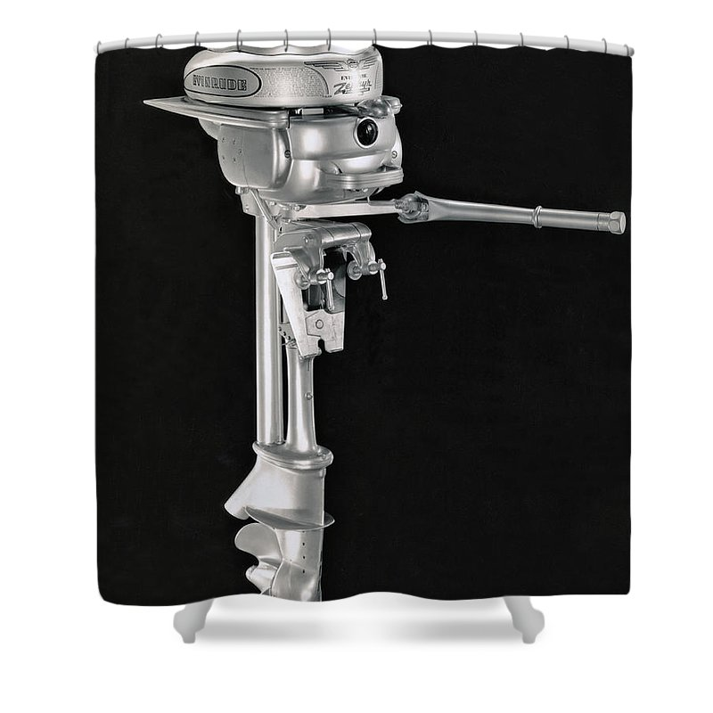 1940 Evinrude Outboard Motor Shower Curtain For Sale By Underwood Archives