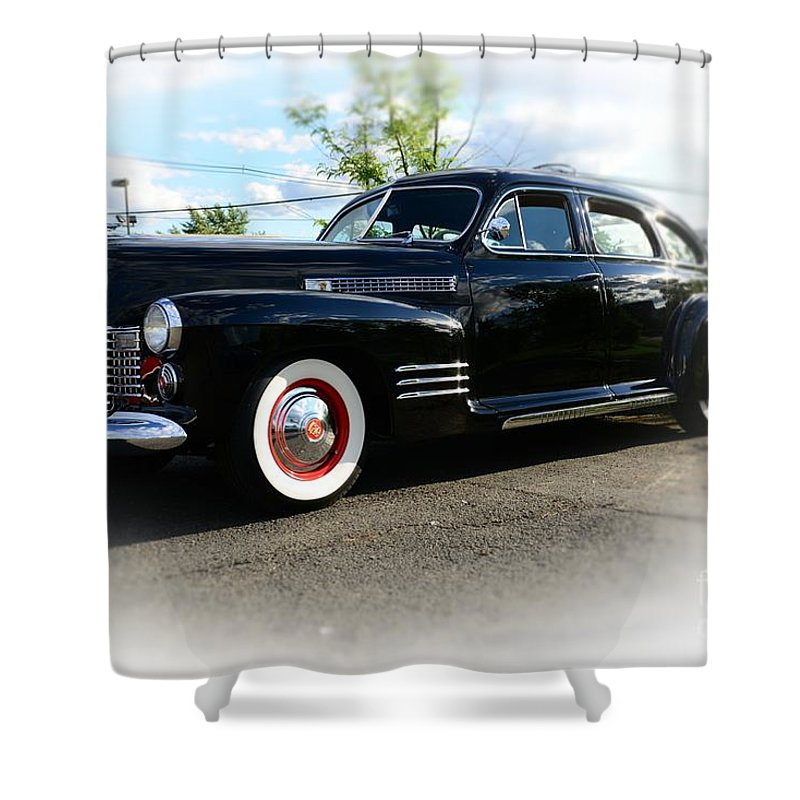 1941 Cadillac Coupe Shower Curtain featuring the photograph 1941 Cadillac Coupe by Paul Ward