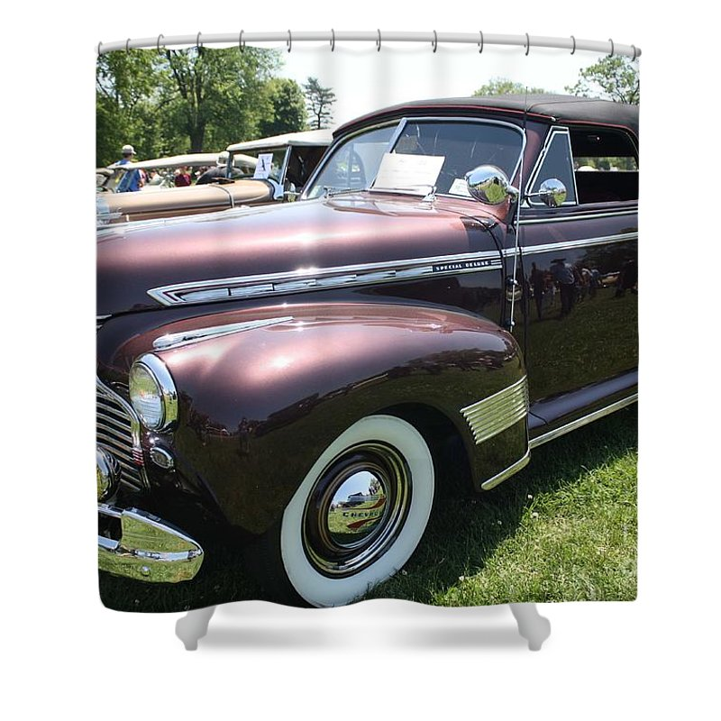 1941 Chevy Special Deluxe Convertible Shower Curtain