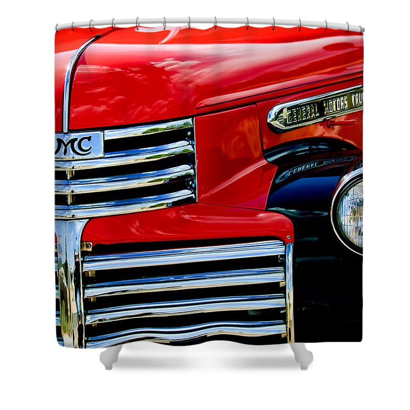 1942 Gmc Pickup Truck Shower Curtain featuring the photograph 1942 Gmc Pickup Truck by Jill Reger