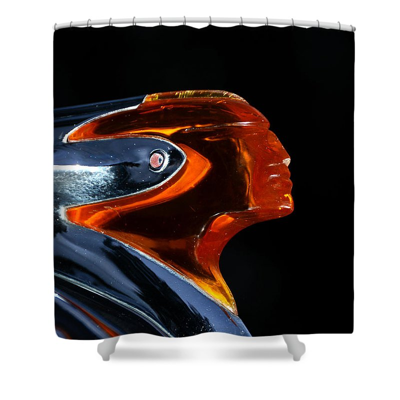 Classic Car Shower Curtain featuring the photograph 1950 Pontiac by David Lee Thompson