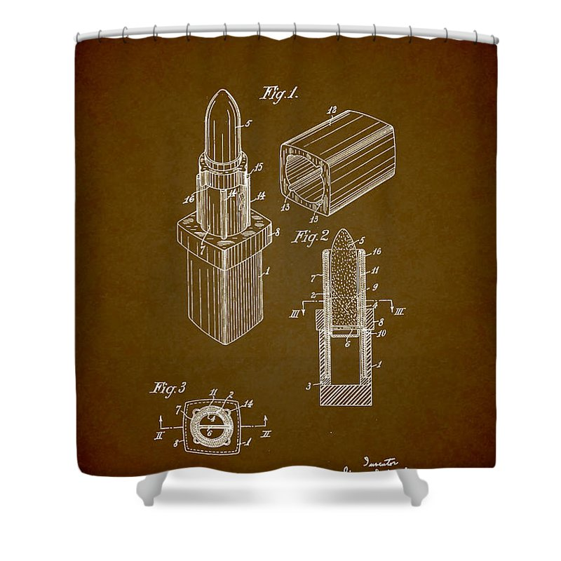 1952 Chanel Lipstick Case 9 Shower Curtain For Sale By Nishanth Gopinathan