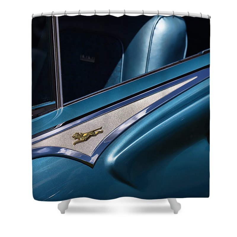 1961 Shower Curtain featuring the photograph 1961 Chrysler New Yorker Town And Country by Gordon Dean II