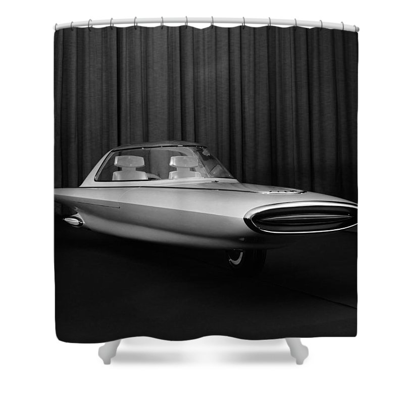 1950s Shower Curtain featuring the photograph 1961 Ford Tyron by Underwood Archives