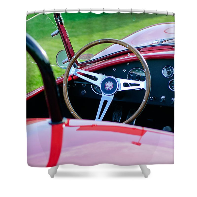 1966 Shelby Cobra 427 Shower Curtain featuring the photograph 1966 Shelby Cobra 427 by Jill Reger