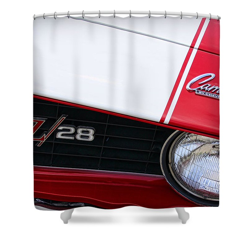 1969 Shower Curtain featuring the photograph 1969 Chevrolet Camaro Z28 by Gordon Dean II
