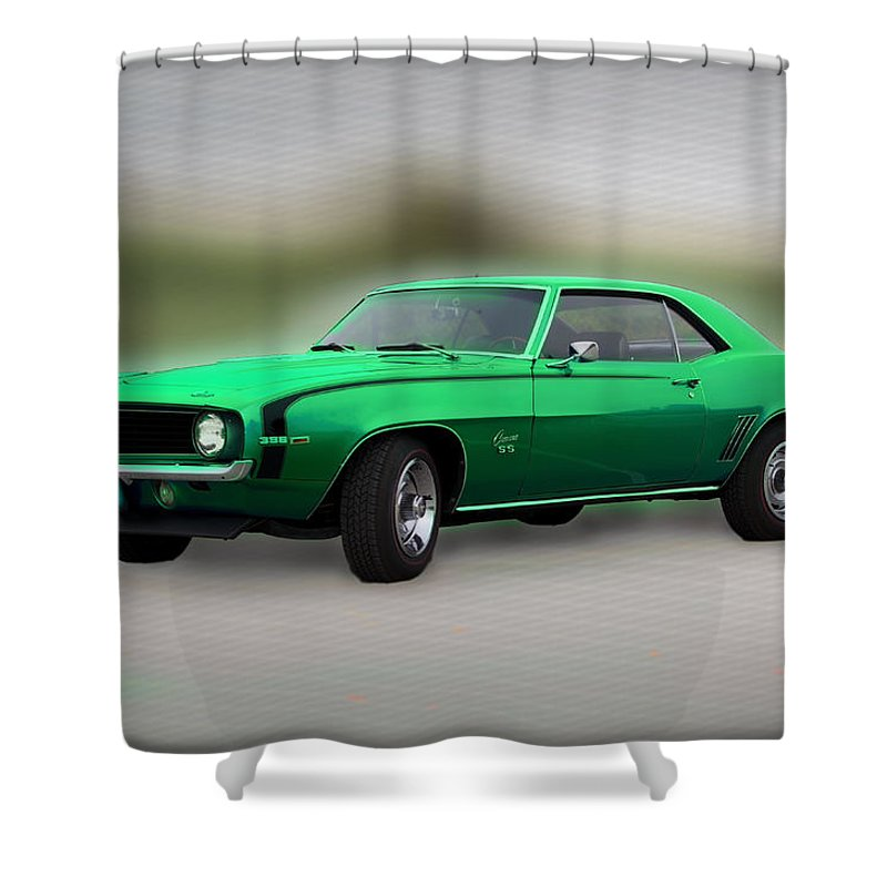 1969 Shower Curtain featuring the photograph 1969 L89 Camaro by Bill Cannon