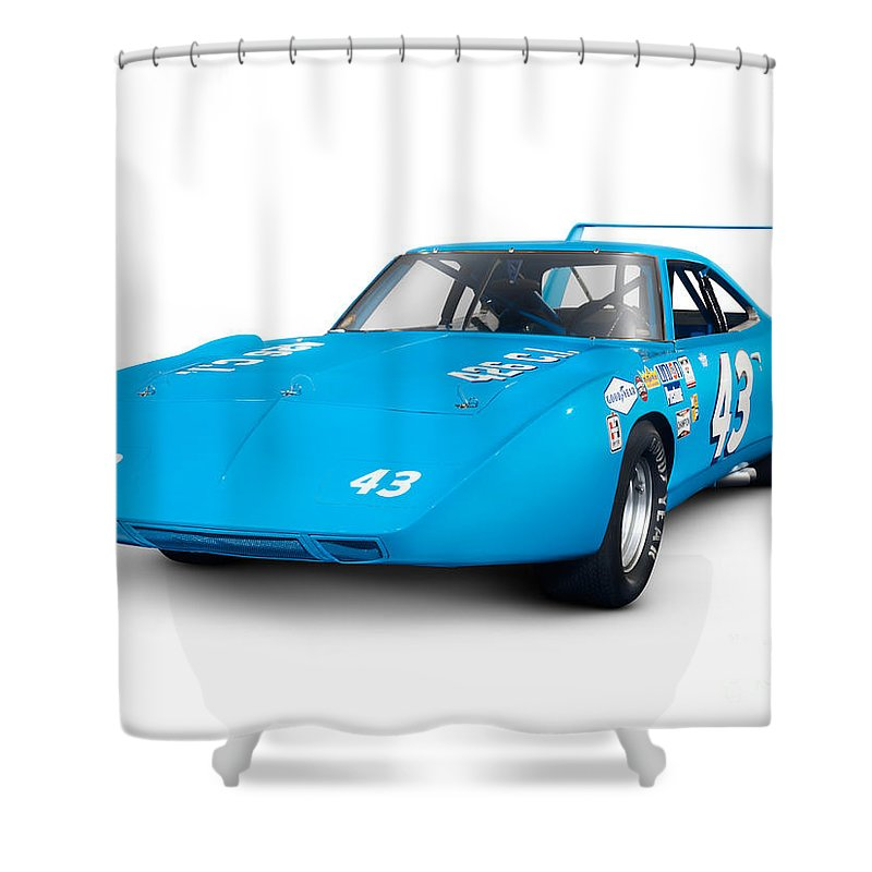 1970 Plymouth Superbird Retro Race Car Shower Curtain For Sale By Oleksiy Maksymenko