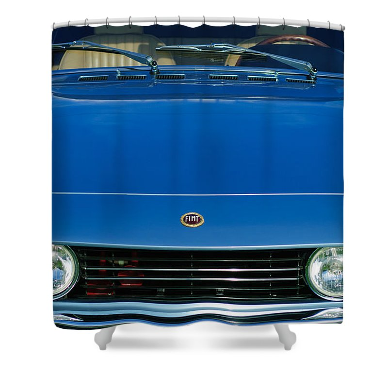 1971 Fiat Dino 2.4 Grille Shower Curtain featuring the photograph 1971 Fiat Dino 2.4 Grille by Jill Reger