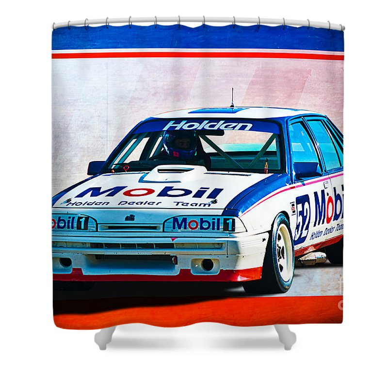 1987 Shower Curtain featuring the photograph 1987 Vl Commodore Group A by Stuart Row