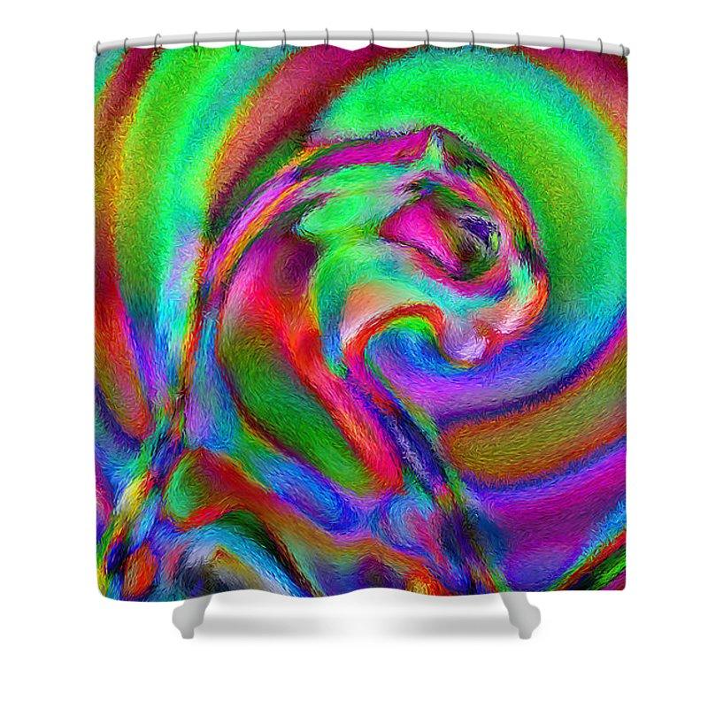 Shower Curtain featuring the digital art 1998002 by Studio Pixelskizm