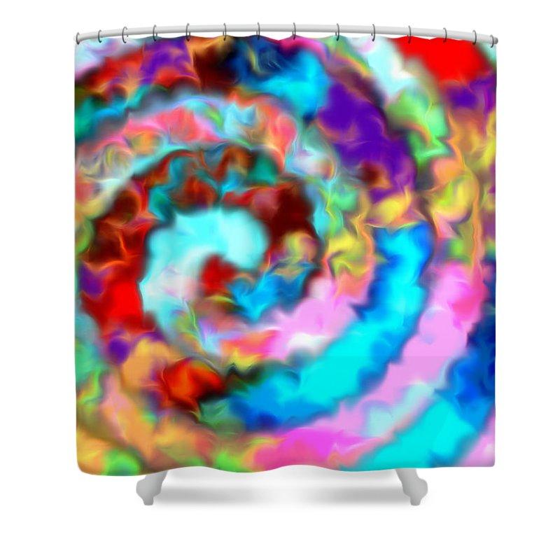 Shower Curtain featuring the digital art 1998025 by Studio Pixelskizm