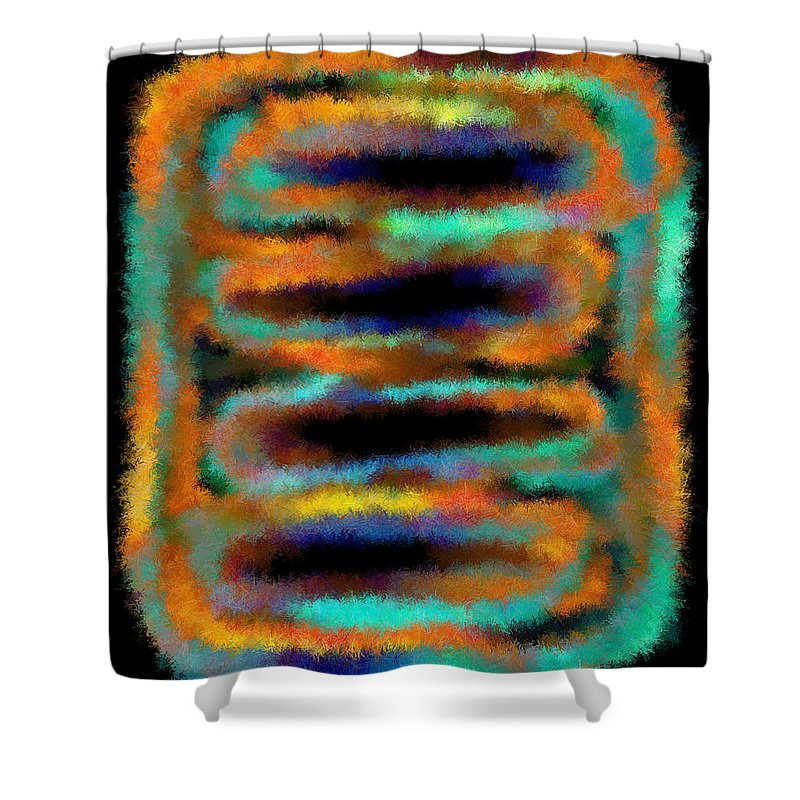 Shower Curtain featuring the digital art 1999007 by Studio Pixelskizm