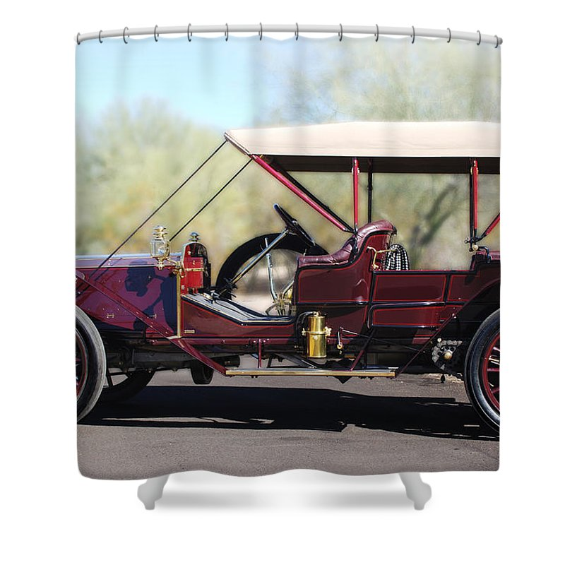 1907 Panhard Et Levassor Shower Curtain featuring the photograph 1907 Panhard Et Levassor by Jill Reger