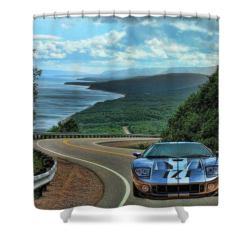 2006 Ford Gt Shower Curtain featuring the photograph 2006 Ford Gt by Sylvia Thornton