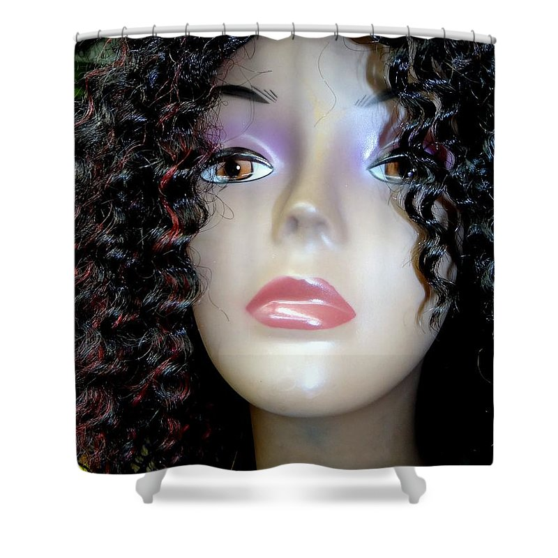 Mannequins Shower Curtain featuring the photograph A Touch Of Red by Ed Weidman