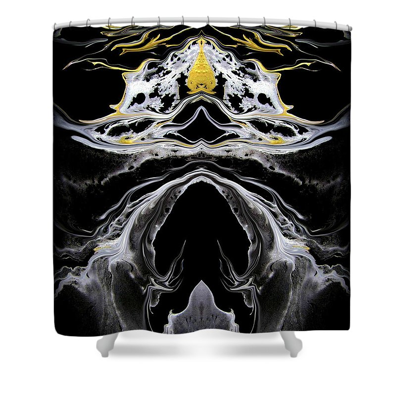 Original Shower Curtain featuring the painting Abstract 138 by J D Owen