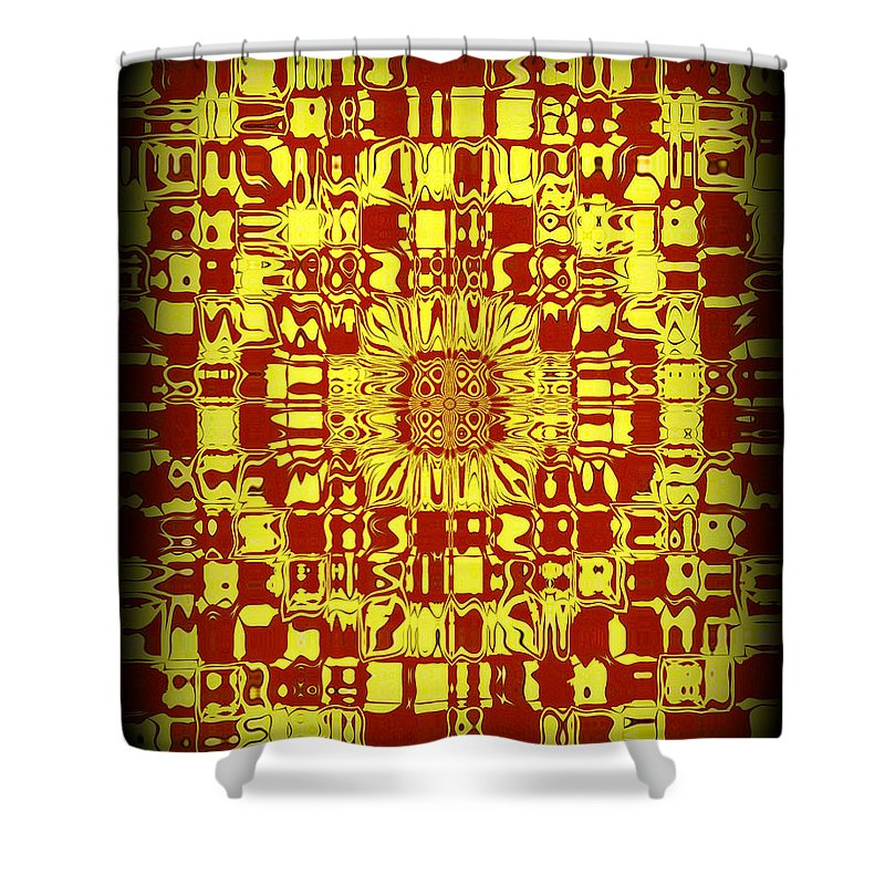 Original Shower Curtain featuring the painting Abstract Series 10 by J D Owen
