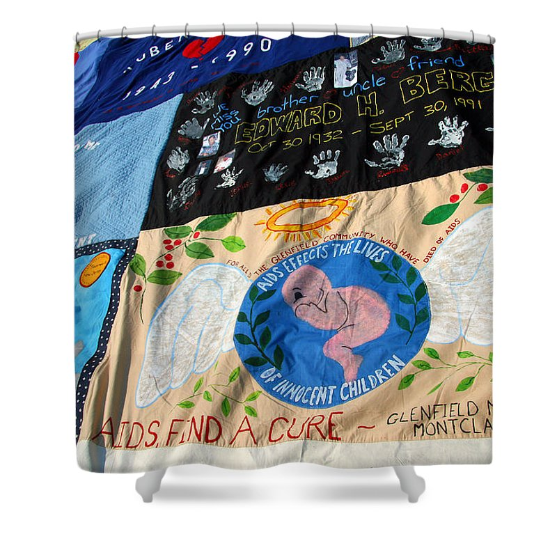 Aids Shower Curtain featuring the photograph Aids Quilt -- 3 by Cora Wandel