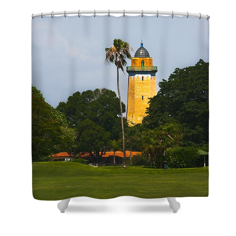 Alhambra Water Tower Shower Curtain featuring the photograph Alhambra Water Tower by Ed Gleichman