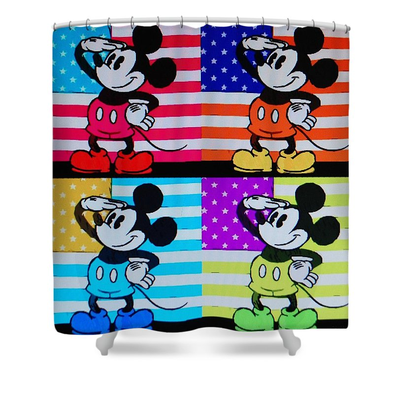 Mickey Mouse Shower Curtain featuring the photograph American Mickey by Rob Hans