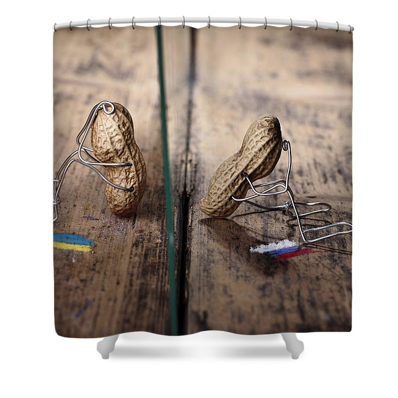 Chasm Shower Curtains