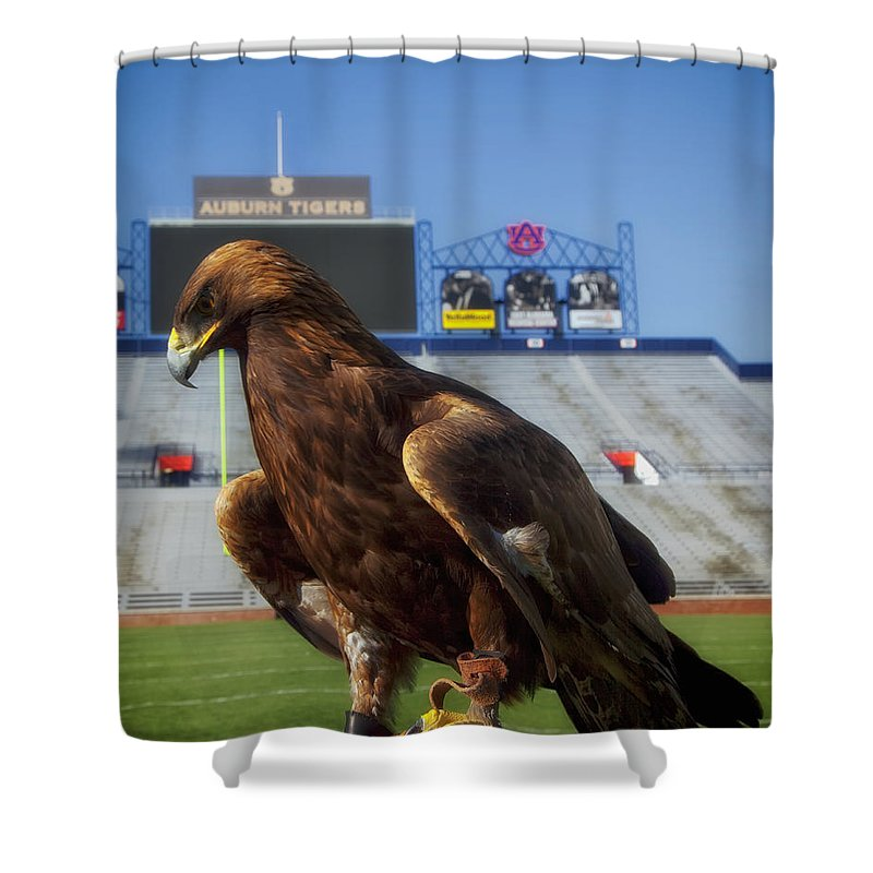 Auburn University Shower Curtain Featuring The Photograph War Eagle By Mountain Dreams