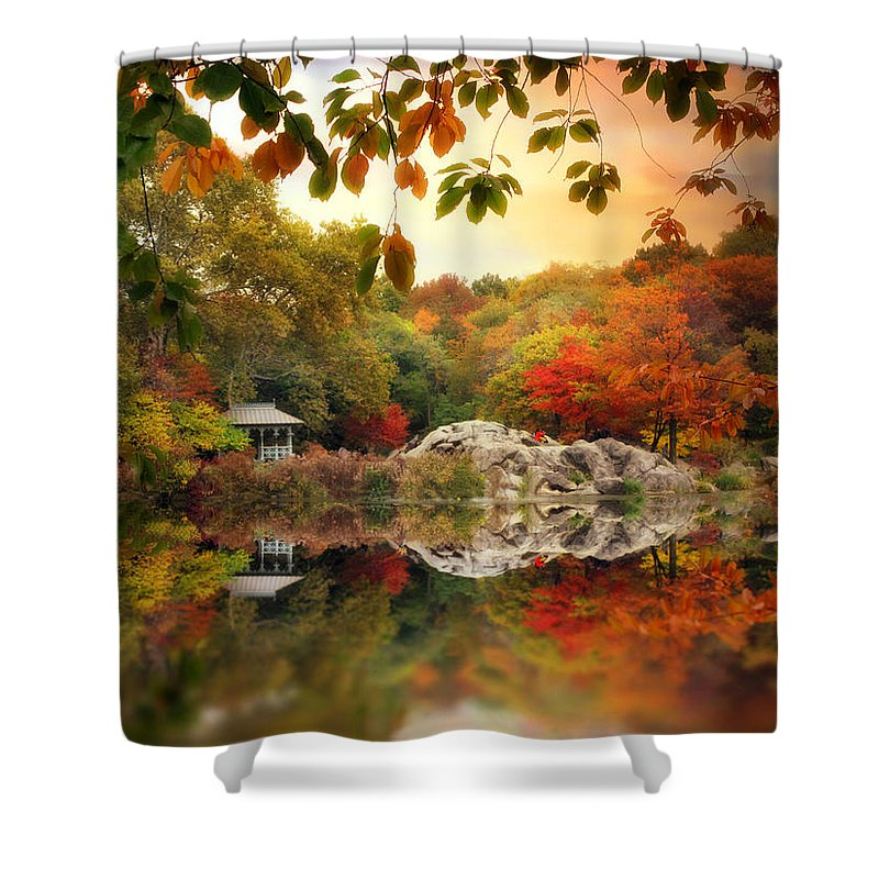 Landscape Shower Curtain featuring the photograph Autumn At Hernshead by Jessica Jenney