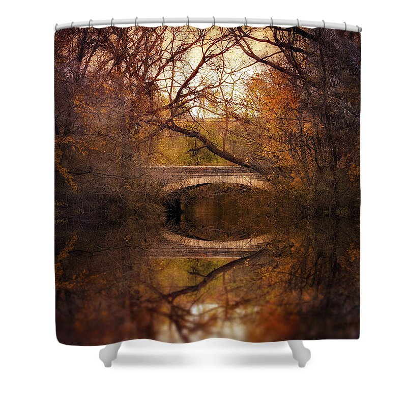 Autumn Shower Curtain featuring the photograph Autumn's End by Jessica Jenney