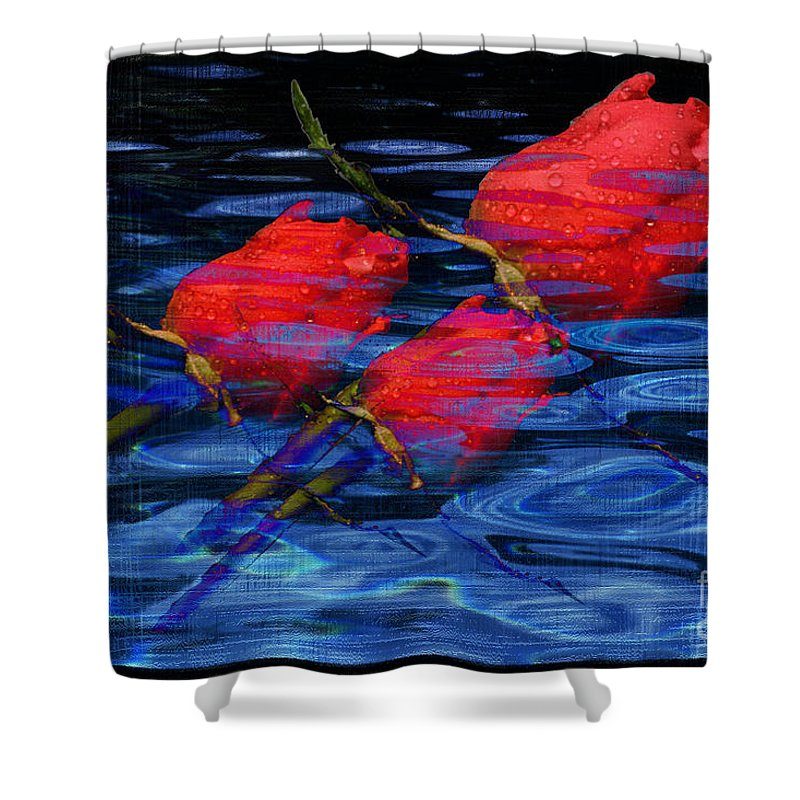 Rose Image Shower Curtain featuring the digital art Be Mine by Yael VanGruber