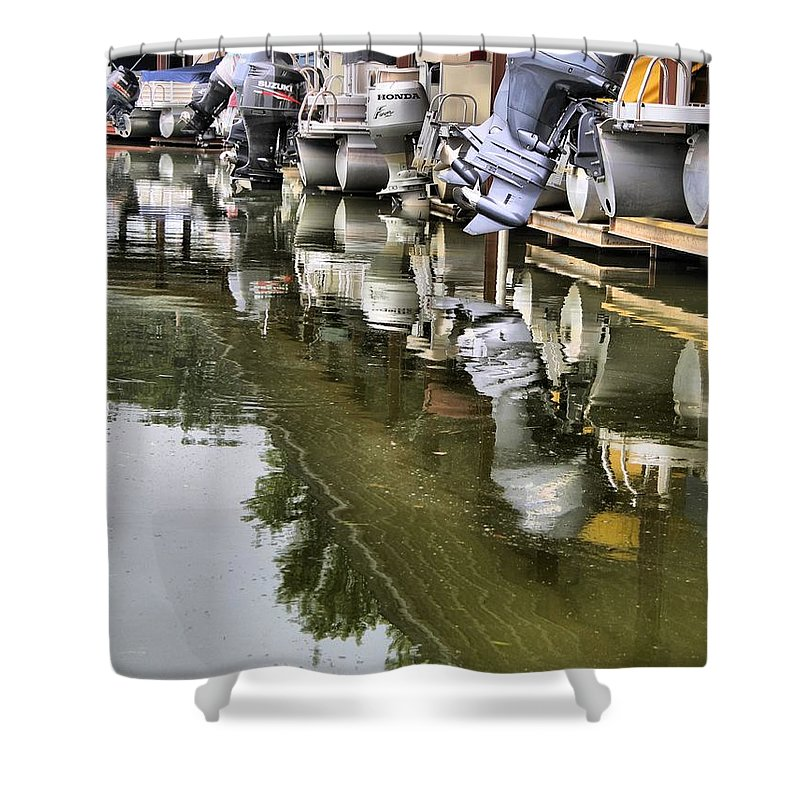 Boating Shower Curtain featuring the photograph Boating by Dan Sproul