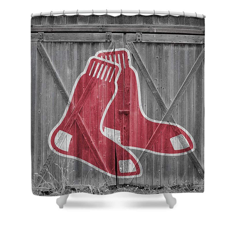 Charmant Red Sox Shower Curtain Featuring The Photograph Boston Red Sox By Joe  Hamilton