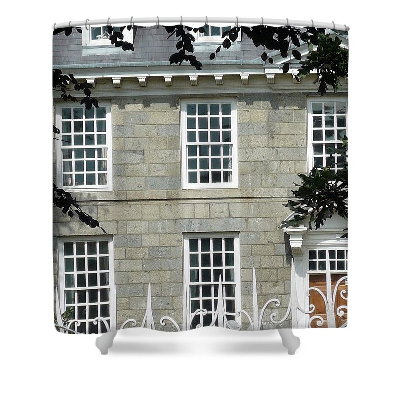 Architecture Shower Curtain featuring the photograph by MomB by Nicki Bennett