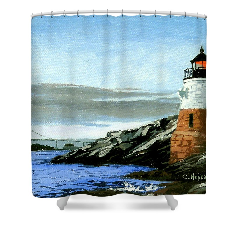 Castle Hill Lighthouse Newport Rhode Island Shower Curtain