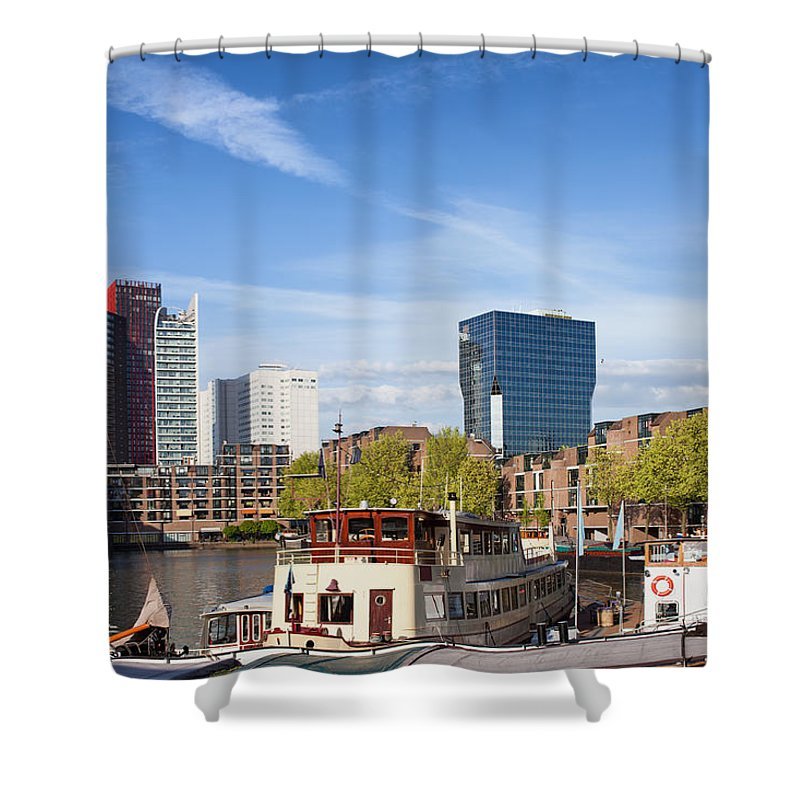 Rotterdam Shower Curtain featuring the photograph City Of Rotterdam In Netherlands by Artur Bogacki