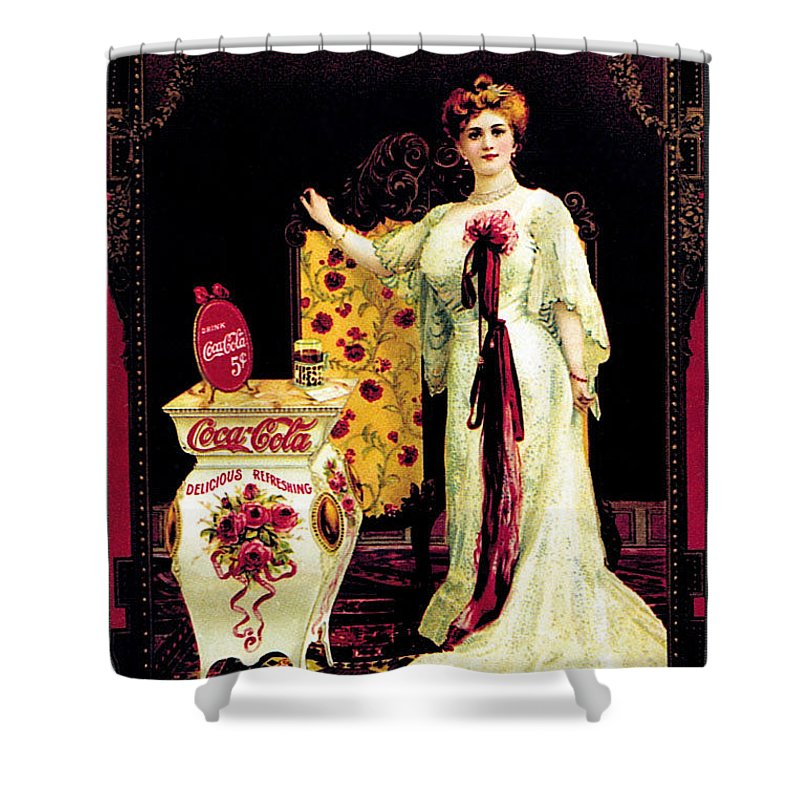 Coca-cola Shower Curtain featuring the photograph Coca - Cola Vintage Poster by Gianfranco Weiss