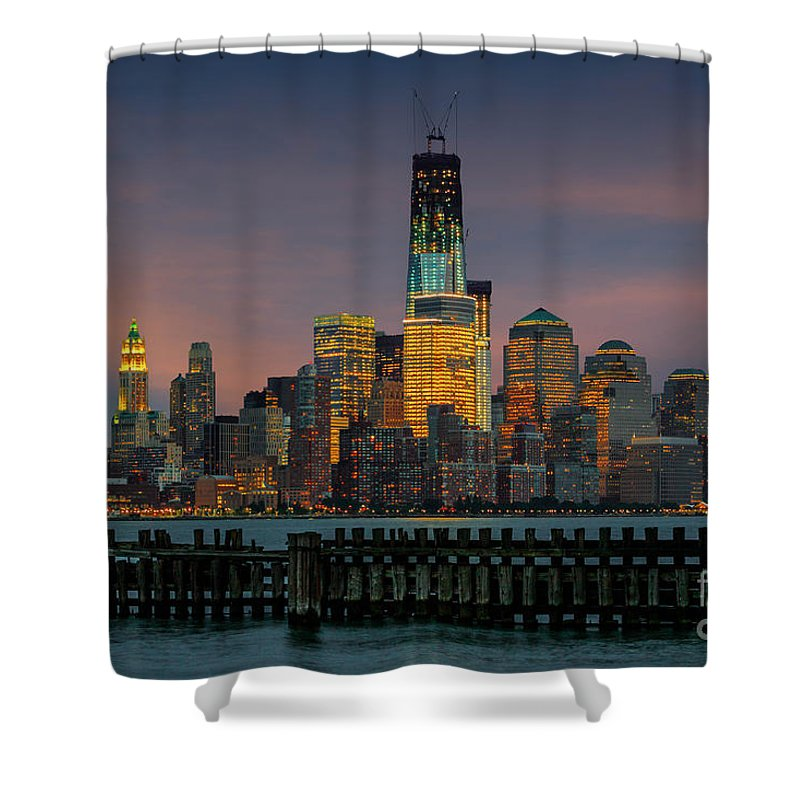 Architect Shower Curtain featuring the photograph Construction Of The Freedom Tower by Jerry Fornarotto