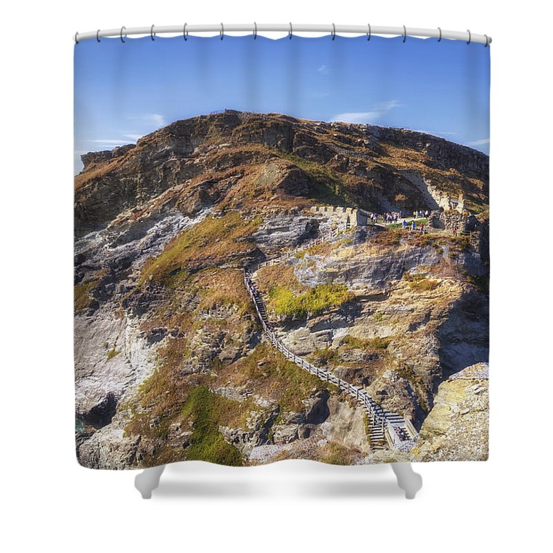 Cornwall Shower Curtain featuring the photograph Cornwall - Tintagel by Joana Kruse