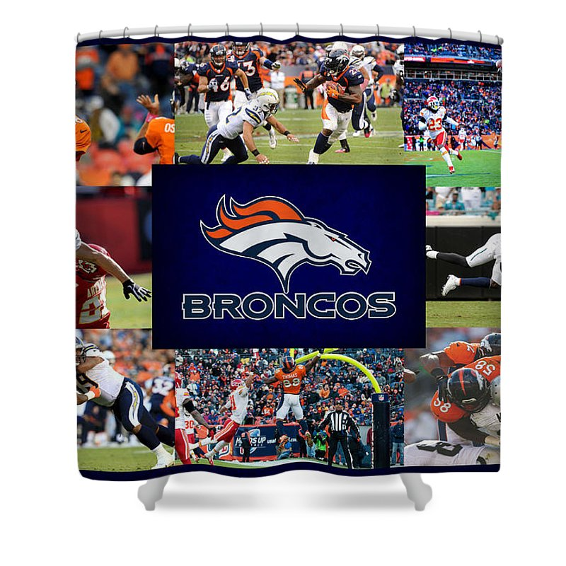 Denver Broncos Shower Curtain Featuring The Photograph By Joe Hamilton