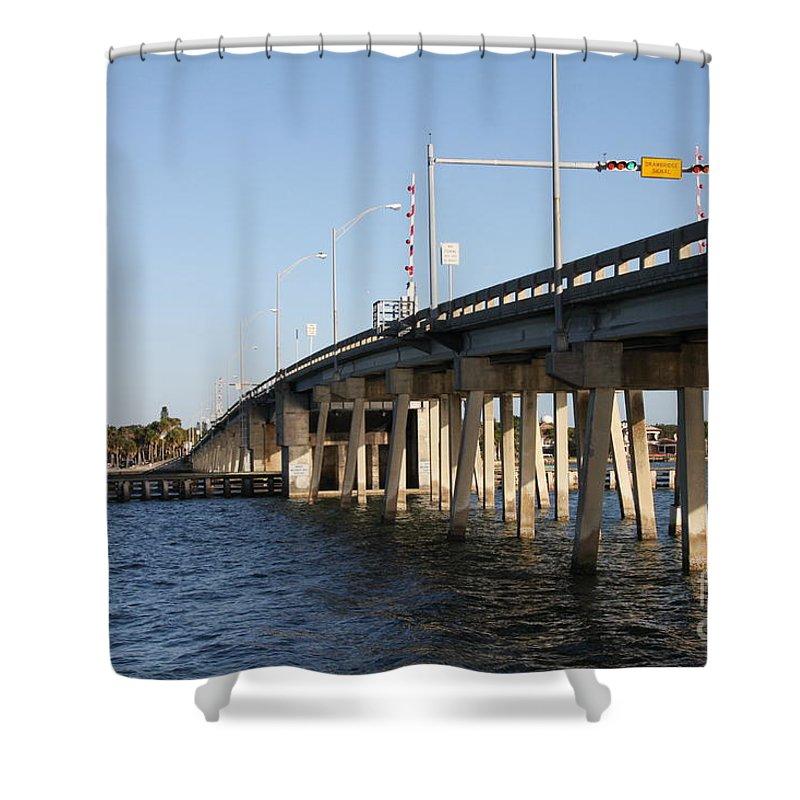 Bridge Shower Curtain featuring the photograph Drawbridge by Christiane Schulze Art And Photography