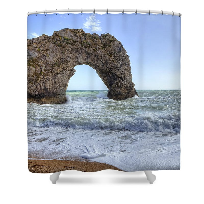 Durdle Door Shower Curtain featuring the photograph Durdle Door by Joana Kruse