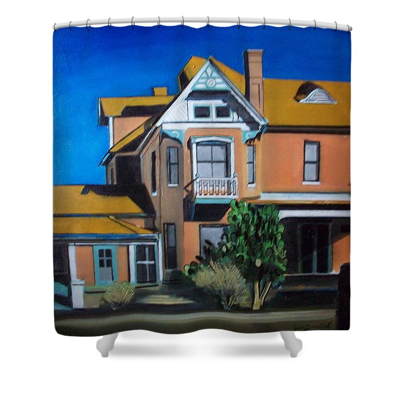 Shower Curtain featuring the painting Dwelling by Jude Darrien