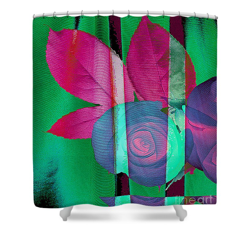 Digital Art Image Shower Curtain featuring the digital art Exotic by Yael VanGruber