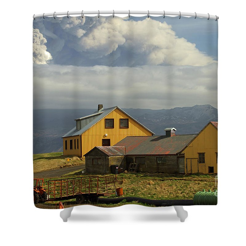 Nature Shower Curtain featuring the photograph Eyjafjallaj�kull Ash Cloud, Iceland by Stephen & Donna O'Meara
