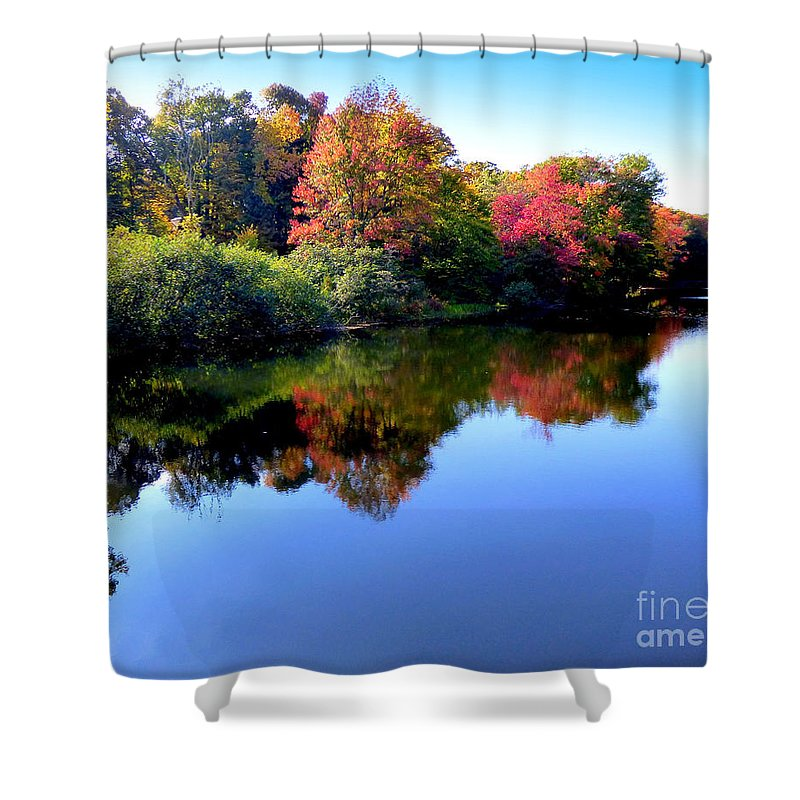 Landscape Shower Curtain featuring the photograph Fall Reflections by Rennae Christman