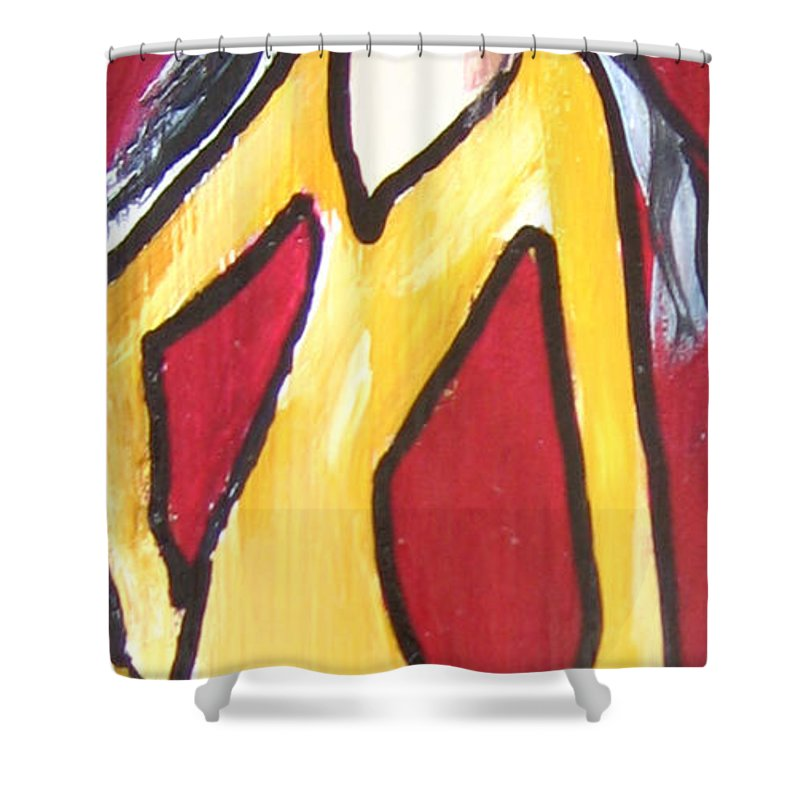 Pikotine Shower Curtain featuring the painting Fashion Art by Pikotine Art