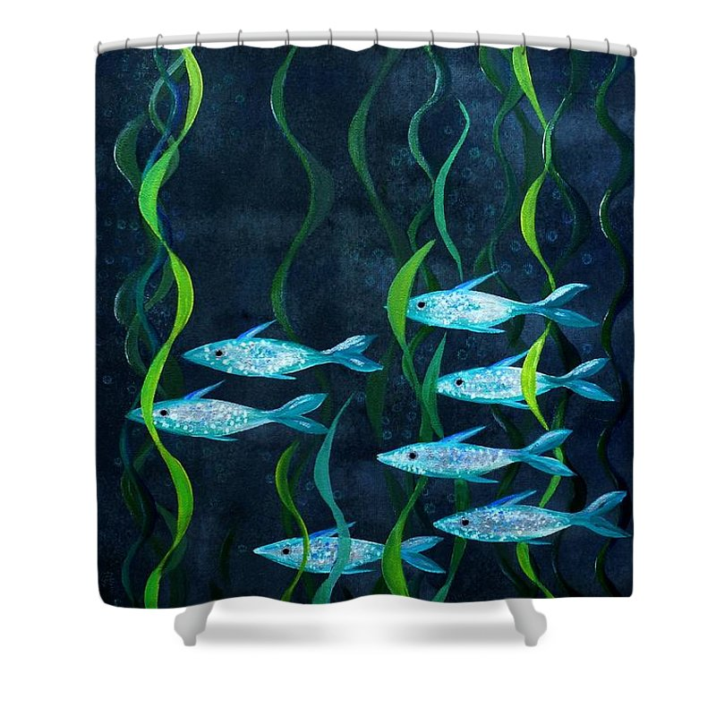 Fish Shower Curtain featuring the painting Fish by Barbara Moignard